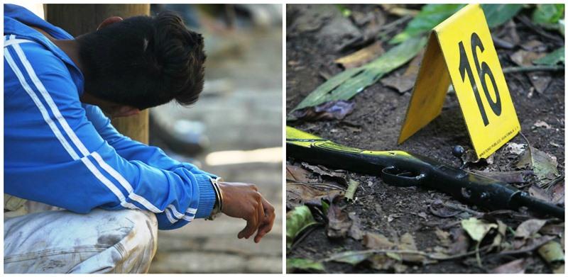 Un adolescente detenido, un arma y drogas incautadas en allanamiento. (Foto Prensa Libre: Érick Ávila)