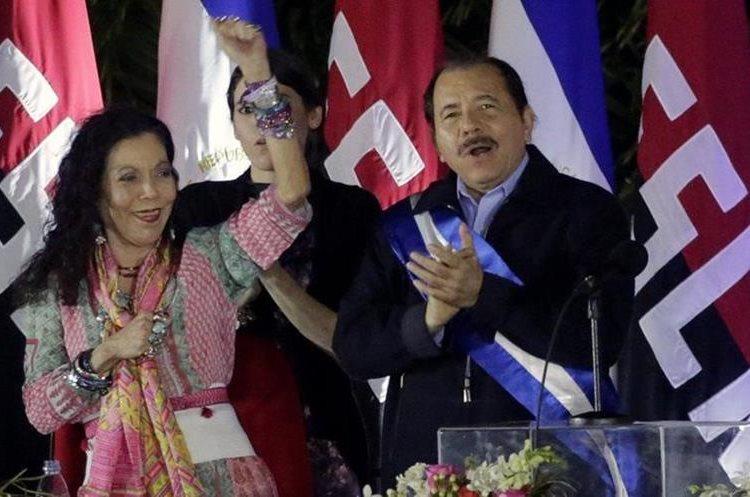 Rosario Murillo, esposa de Daniel Ortega y vicepresidenta de Nicaragua desde 2017, fue la primera representante del gobierno en comparecer el jueves tras la grave crisis nacional originada por las reformas a la seguridad social. AFP