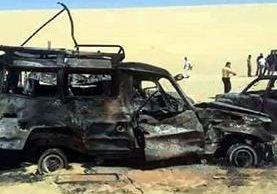 Medios egipcios revelaron fotos del convoy turístico mexicano que fue bombardeado.