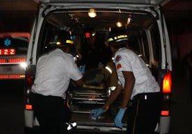 Los heridos fueron ingresados al Hospital General San Juan de Dios. (Foto Prensa Libre: Cortesía CVB)
