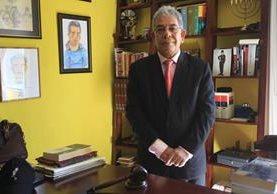 Miguel Angel Galvez ha conocido casos de alto impacto social en primera instancia penal. (Foto Prensa Libre: Esbin García)