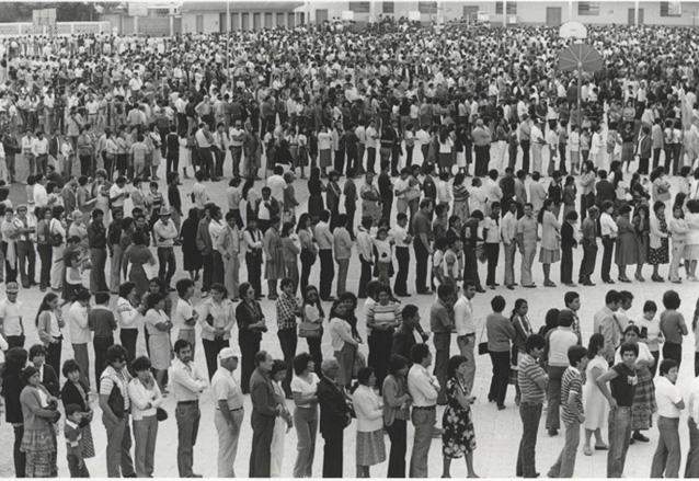 La Ley Electoral y de Partidos Políticos ha regido ocho procesos electorales. En la foto, votantes en las Elecciones de 1985. (Foto: CIRMA)
