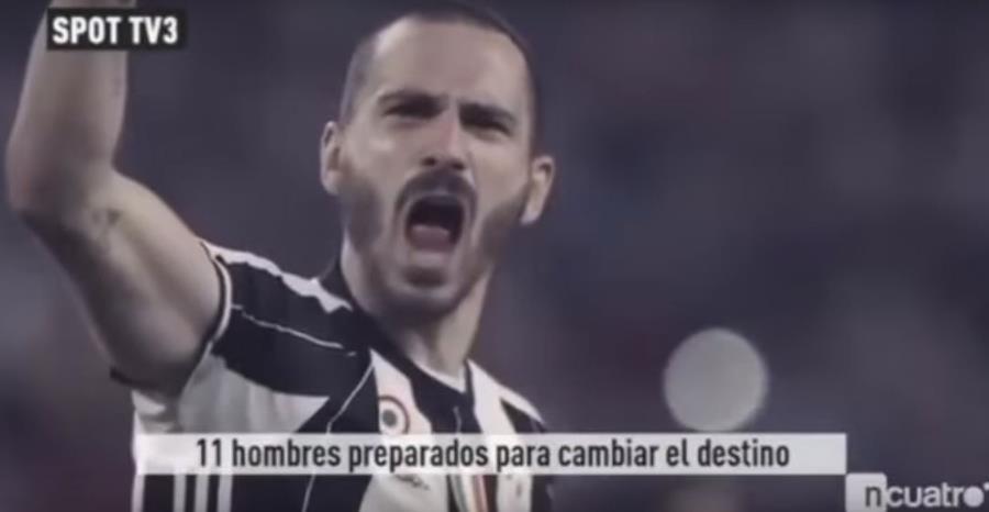 Las imágenes de triunfo y alegría de la Juventus acompañaron el video de TV3. (Foto Prensa Libre: Captura de video de Youtube)