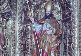 Imagen de estilo barroco que representa a San Nicolás, que se venera en el Templo de La Merced de la capital. (Foto: Hemeroteca PL)