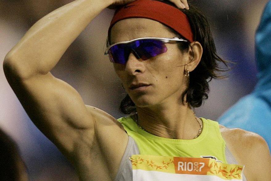 Imagen del 2007 de la destacada deportista mexicana Ana Guevara. (Foto Prensa Libre: AP).