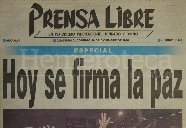 Worksheet. Gobierno y URNG firman la paz en 1996