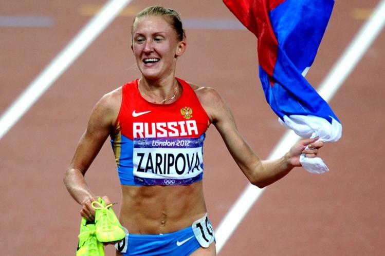 Yuliya Zaripova fue despojada de la medalla en los 3,000 metros de Londres 2012. (Foto Prensa Libre: Hemeroteca PL)