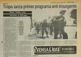Marines desembarcan en Honduras, para cooperar en lucha contra guerrilla en 1983. (Foto: Hemeroteca PL)
