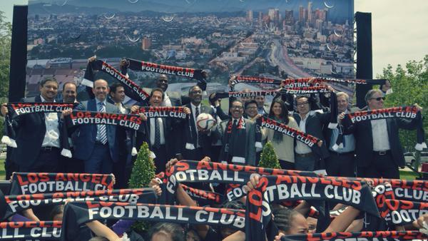 Los Ángeles Football Club, fue el nombre elegido por socios, aficionados y dueños del equipo, para el nuevo equipo de la MLS (Foto Prensa Libre: futbol MLS)