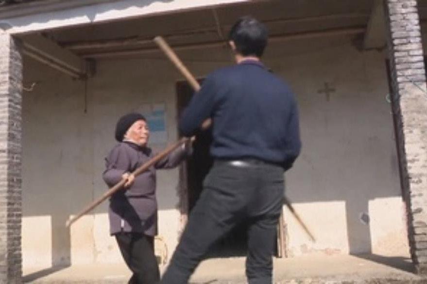 Zhang Hexian se ha convertido en una sensación en China, gracias a sus técnicas de kung-fu.