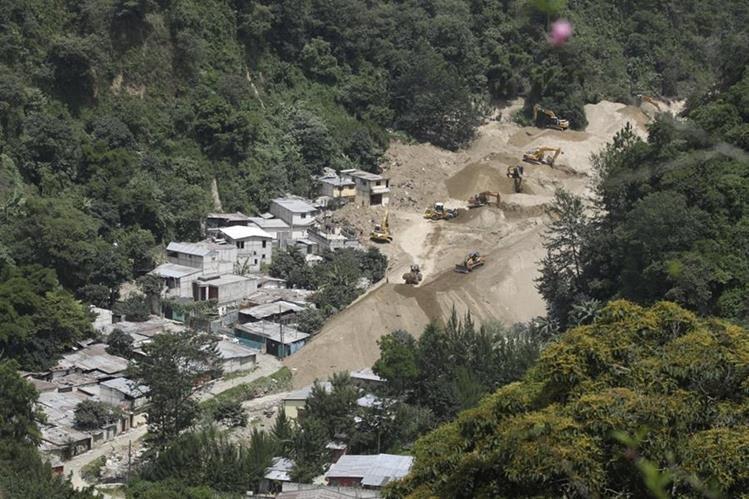 Imagen del área que ocupaba El Cambray 2 luego del gigantesco alud. (Foto Prensa Libre: HemerotecaPL)
