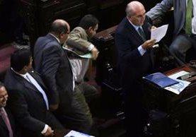 Incidente entre diputado Taracena y Lainfiesta quedó grabado en video. (Foto Prensa Libre: Cortesía José Castro)