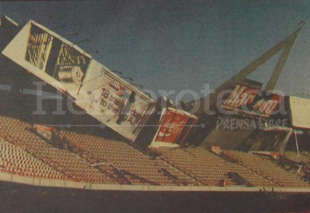 La estructura del estadio Anaheim sufrió serios daños. (Foto: Hemeroteca PL)