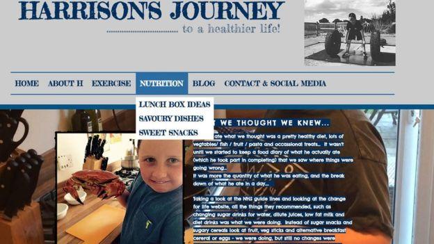 En su página web, Harrison ofrece consejos sobre cómo comer más saludable y rutinas de ejercicios.