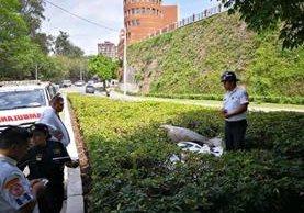 Cuerpo de una mujer localizado en la zona 4. (Foto Prensa Libre: Estuardo Paredes)