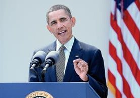 El presidente de EEUU, Barack Obama, habla en la Casa Blanca, Washington, DC. (Foto Prensa Libre:EFE)