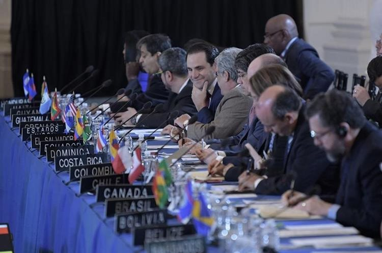 Vista general de los embajadores ante la OEA durante la 70ª Asamblea General.(EFE).
