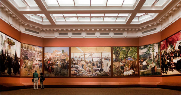 Los murales de Joaquín Sorolla en la Sociedad Hispana de América.(Foto Prensa Libre: nytimes.com)