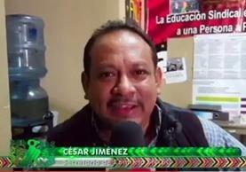 César Jiménez Cárdenas, secretario de conflictos del Sindicato de Trabajadores de la Salud de Guatemala (STEG) filial Sacatepéquez, amenazó de muerte a Julio Sicán, corresponsal de Prensa Libre. (Foto Prensa Libre: Guatevisión)