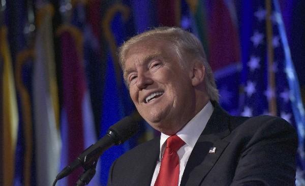 """Donald Trump envía un mensaje a manifestantes: """"no tengan miedo"""". (AFP)."""