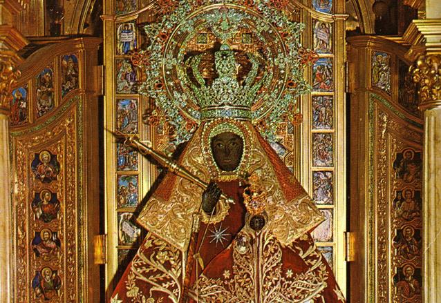 Imagen de la Virgen de Guadalupe que se venera en Cáceres, Extremadura, España. (Foto: Internet)
