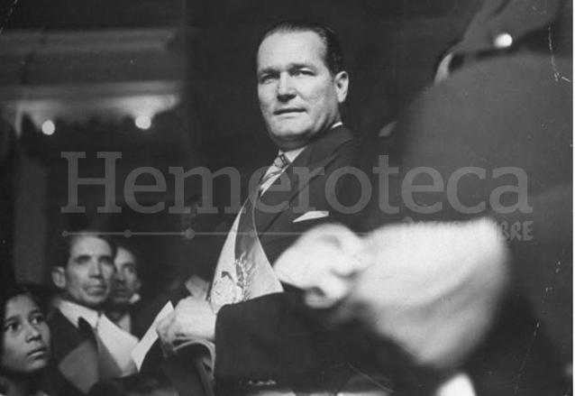 El presidente Juan José Arévalo Bermejo el día de la toma de posesión, 15 de marzo de 1945.  (Foto: Hemeroteca PL)