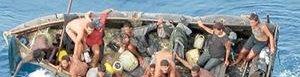 Migrantes cubanos.
