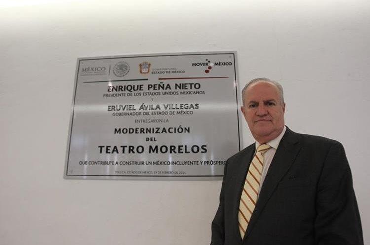 Francisco De la Sota, Director de difusión del Teatro Morelos. (Foto Prensa Libre: Keneth Cruz)