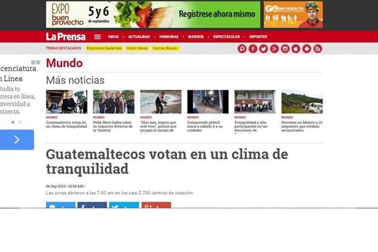Los hondureños también se informan sobre los comicios en Guatemala. (Foto Prensa Libre: Internet)