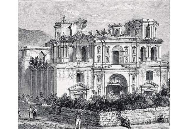 Ruinas del Templo de la Compañía de Jesús. (Foto: Hemeroteca PL)