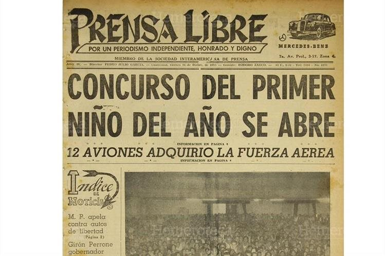 Portada de Prensa Libre del 16/12/1955 dio a conocer sobre la organización del primer maratón de la Cigüeña. (Foto: Hemeroteca PL)