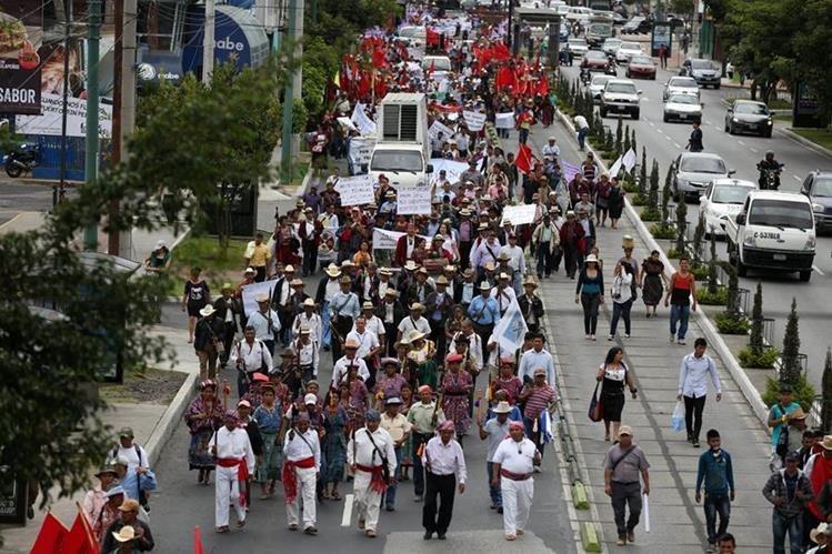 Las movilizaciones están anunciadas para el miércoles, aunque Codeca no ha informado en que lugares serán. (Foto Prensa Libre: Hemeroteca PL)