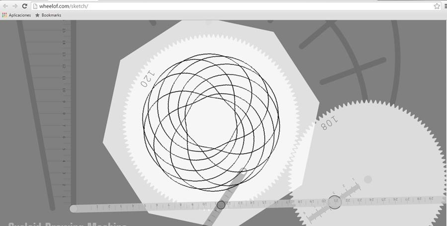 La Cycloid Drawing Machine permite al usuario trazar distintas figuras geométricas. (Foto Prensa Libre: Hemeroteca PL).