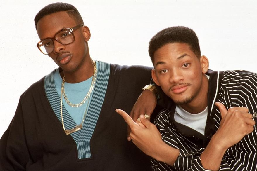 DJ Jazzy Jeff y the Fresh Prince (Will Smith), en una fotografía de la década de 1980.  (Foto Prensa Libre: Michael Ochs/Getty Images)