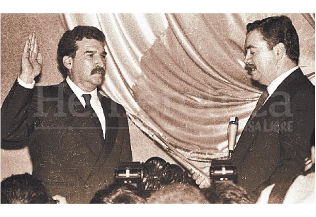 """Ramiro de León Carpio es electo presidente interino en 1993, luego del """"Serranazo"""". (Foto: Hemeroteca PL)"""
