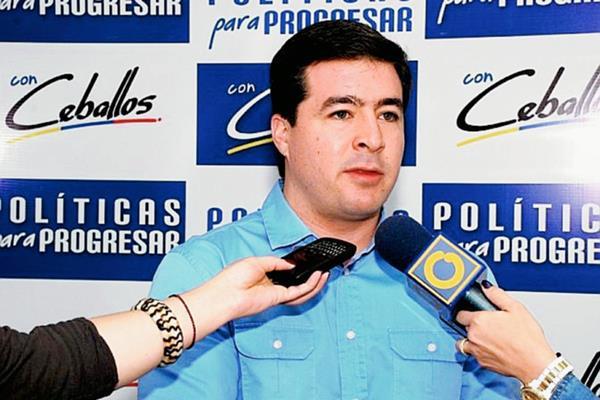Daniel Ceballos, ex alcalde del municipio San Cristóbal en Táchira,Venezuela.