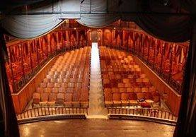 Vista interior del Teatro Municipal de Huehuetenango
