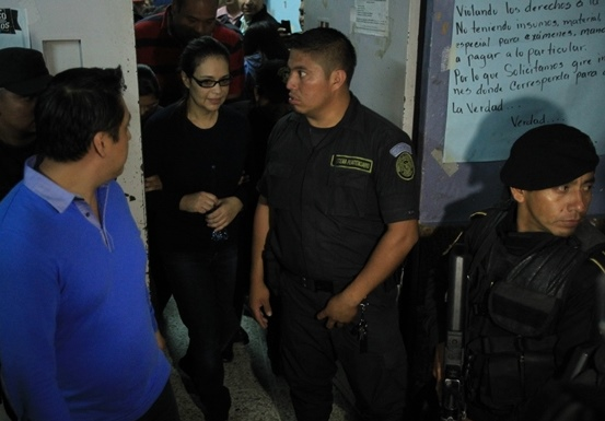 Roxana Baldetti fue evaluada en el Hospital General San Juan de Dios, el 3 de noviembre último. (Foto Prensa Libre: Hemeroteca PL)