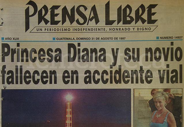 Titular de Prensa Libre del 31 de agosto de 1997. (Foto: Hemeroteca PL)