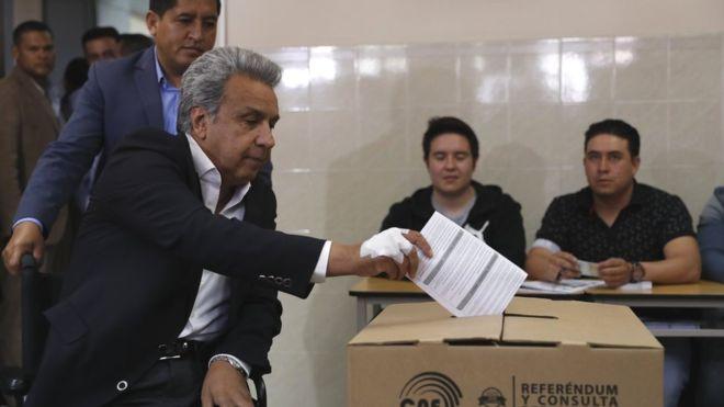 El presidente Lenín Moreno fue el principal promotor de la consulta. EPA