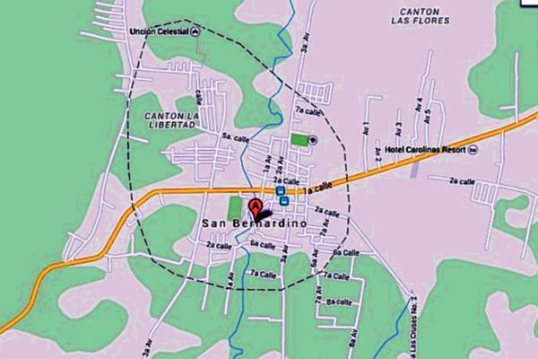 Mapa de San Bernardino, Suchitepéquez. (Foto Prensa Libre: Internet)