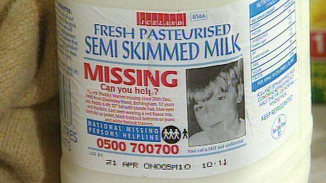 Los niños se hicieron famosos en Birmingham por el mensaje de su desaparición en las cajas de leche de cartón de la marca Iceland.