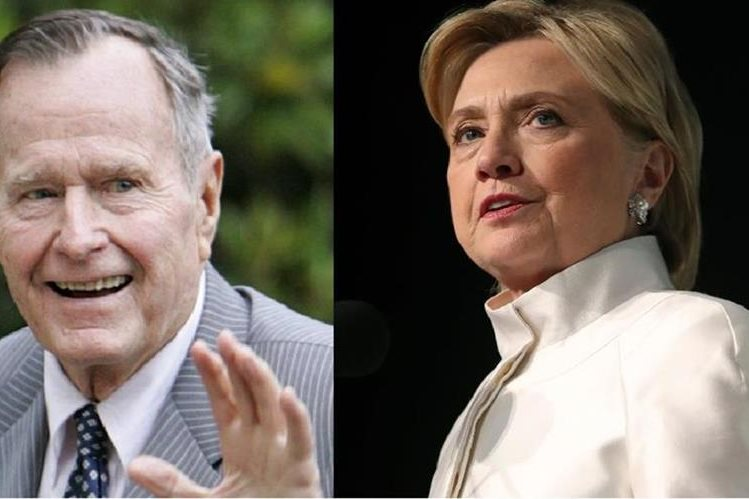 George H. W. Bush planea votar por la candidata demócrata Hillary Clinton. (AFP).