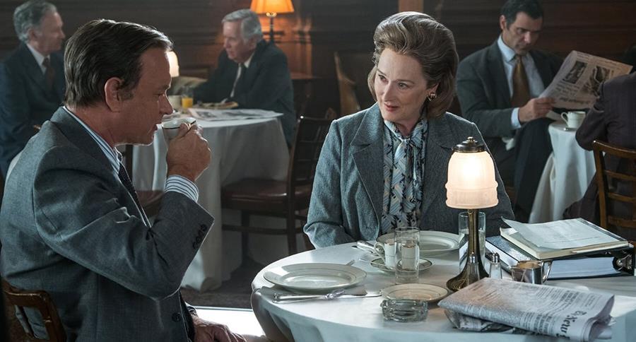 Tom Hanks y Meryl Streep lideran las acciones de un medio que lucha contra una orden judicial (Foto Prensa Libre: 20th Century Fox/DreamWorks).