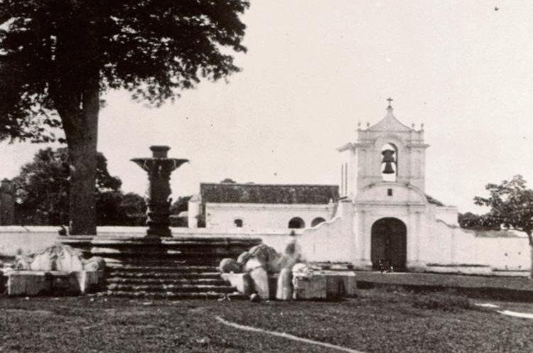 Templo de  la Asunción,    Jocotenango, Guatemala, demolido hacia 1871.