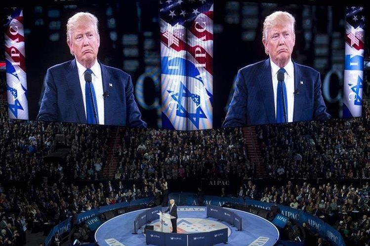 Donald Trump, durante su discurso el lunes. (Foto Prensa Libre: AFP).