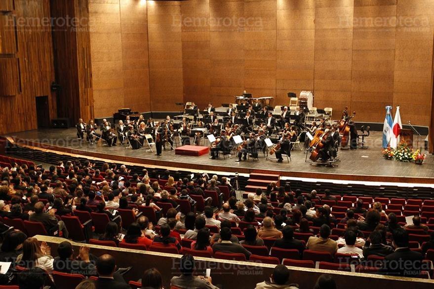 Concierto en la Gran Sala Efraín Recinos. (Foto: Hemeroteca PL)