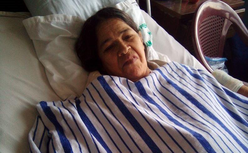 Una paciente sin identificar permanece desde hace dos años en encamamiento de cirugía de mujeres. (Foto Prensa Libre: Hospital San Juan de Dios)