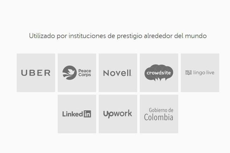 Empresas que usan el Duolingo English Test. (Foto Prensa Libre: Duolingo)