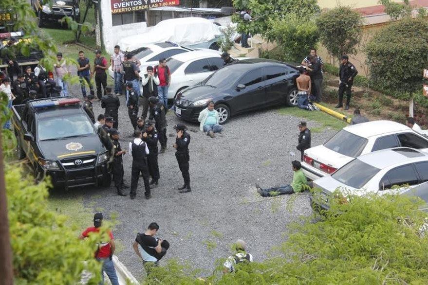 Lugar donde ocurrió la captura en Santiago Sacatepéquez. (Foto Prensa Libre).